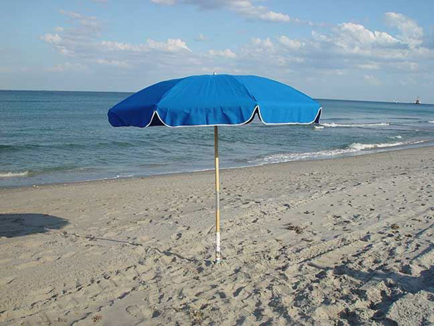 Picture of Commercial Fiberglass Beach Umbrellas - 48 Concession Pack Free Shipping